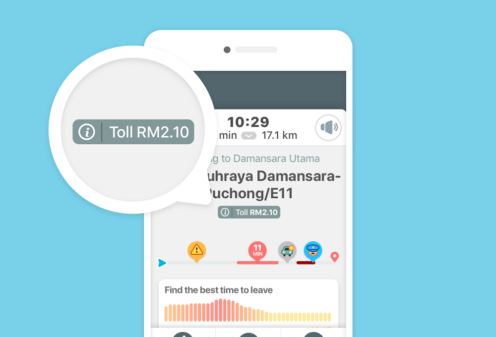 Waze introduces new feature to estimate toll prices for Malaysian motorists. — Picture courtesy of Waze