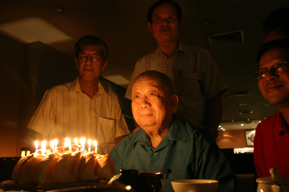 The former Communist Party of Malaya secretary-general known as Chin Peng but born Ong Boon Hua was last photographed celebrating his 85th birthday at a Bangkok hotel on October 14, 2009. — Picture by Debra Chong
