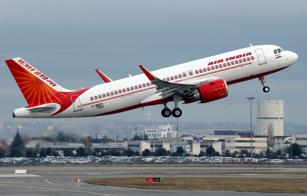 An Air India Airbus A320neo plane takes off in Colomiers near Toulouse, France, December 13, 2017. — Reuters pic