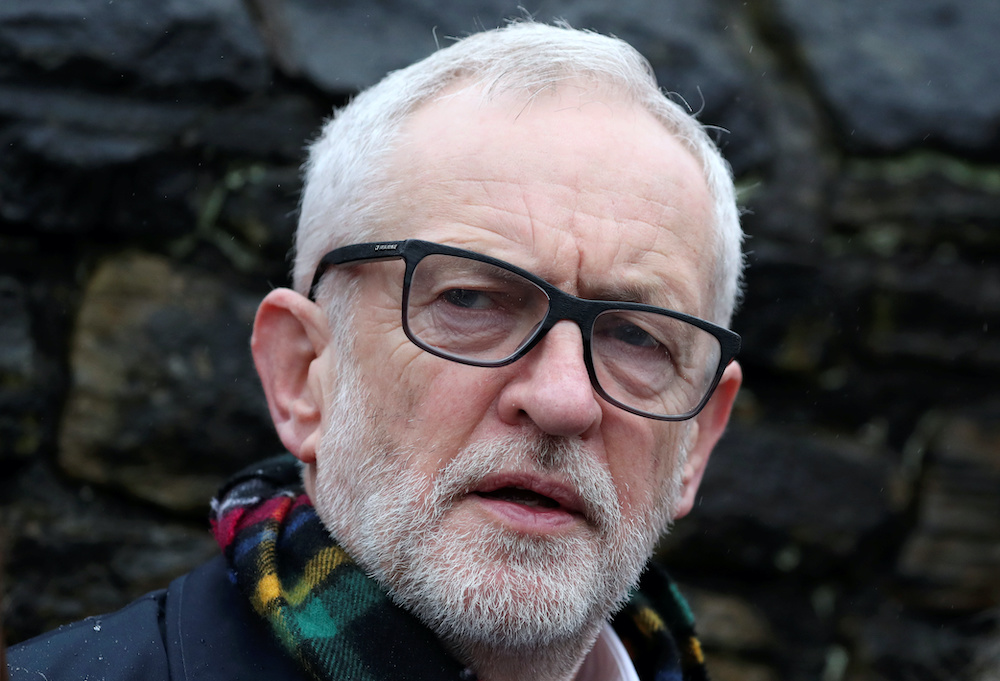 Britain's Labour Party leader Jeremy Corbyn said he would take responsibility for the loss. — Reuters pic