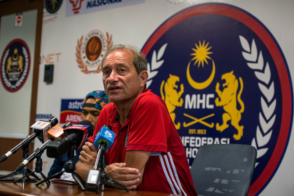 National men's hockey squad head coach Roelant Oltmans is undergoing a 14-day home-quarantine in Bukit Jalil after returning to Malaysia yesterday. — Bernama pic