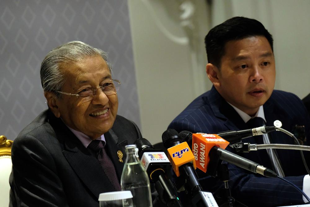 Malaysian Prime Minister Tun Dr Mahathir Mohamad speaks at a press conference during the 22nd Asean-China Summit at IMPACT Muang Thong Thani, Bangkok November 3, 2019. — Bernama pic
