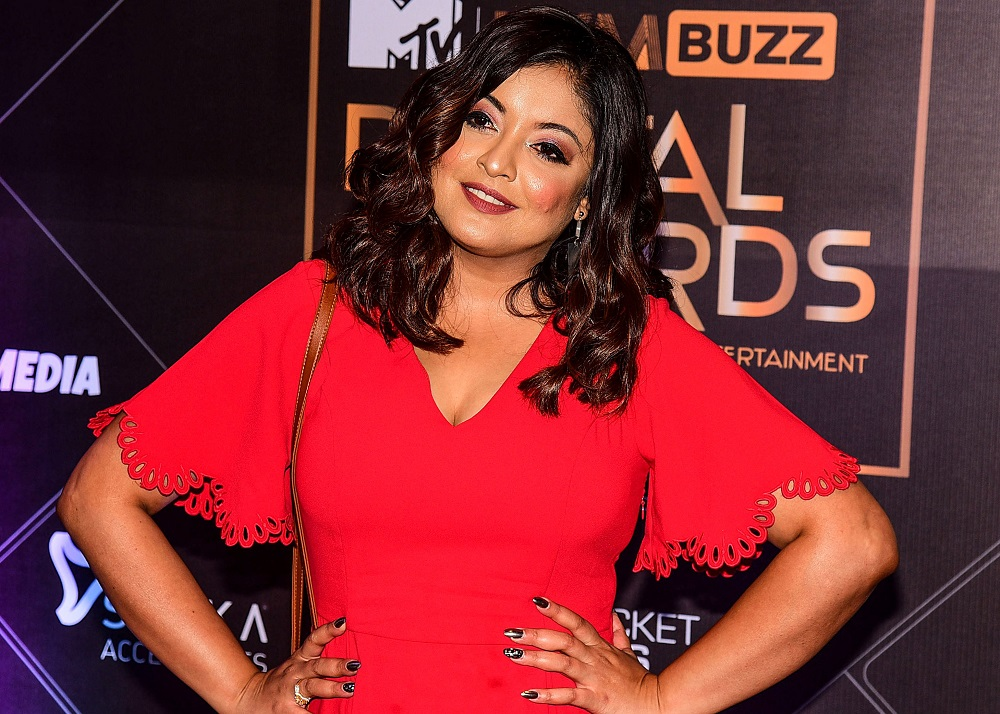 In this photograph taken on November 12, 2019, Bollywood actress Tanushree Dutta attends the MTV IWM Buzz Digital Awards'ceremony in Mumbai.  — AFP pic