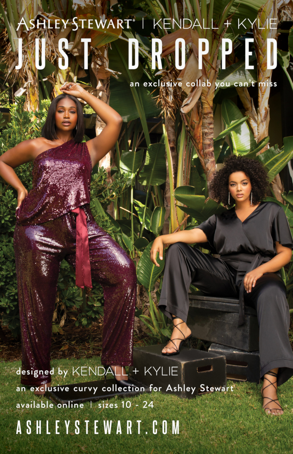 Ashley Stewart partners with Kendall + Kylie for debut Curvy collection. — Picture from Ashley Stewart via AFP-Relaxnews
