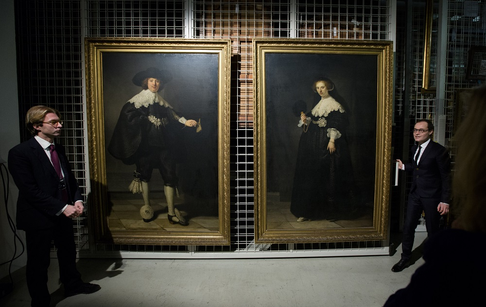 Rembrandts (such as these, pictured) have been the target of thefts at a London museum. — AFP pic