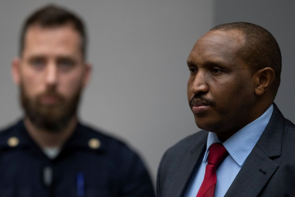 Congolese militia commander Bosco Ntaganda rises as judges enter the courtroom of the International Criminal Court (ICC) in The Hague, Netherlands November 7, 2019. — Peter Dejong/Pool pic via Reuters