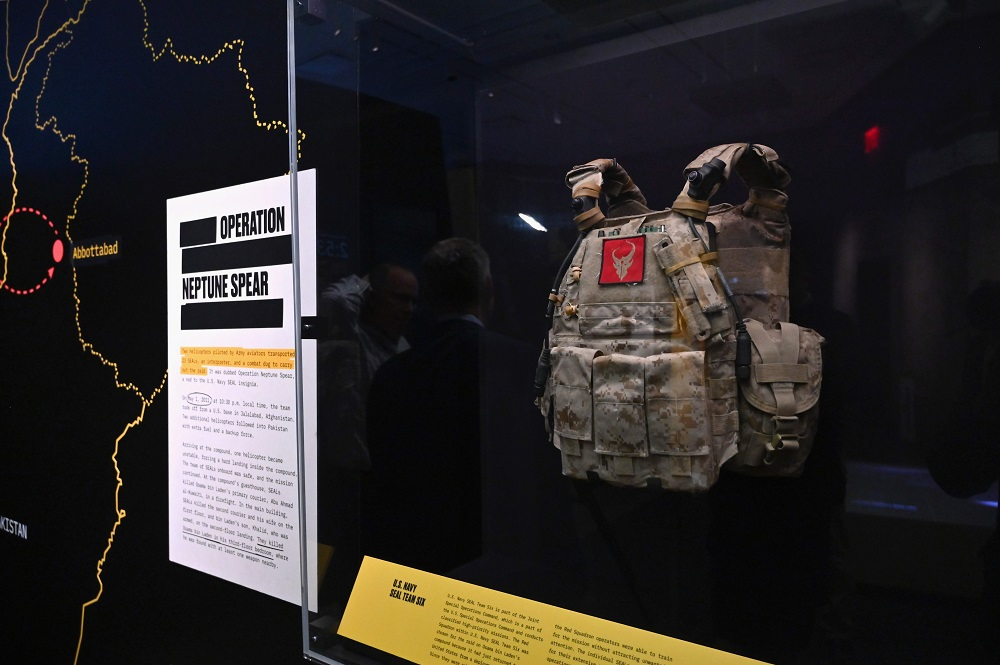 A view of items on display are seen during the 'Revealed: The Hunt for Bin Laden' exhibition at the National 9/11 Memorial Museum in New York November 7, 2019. — AFP pic