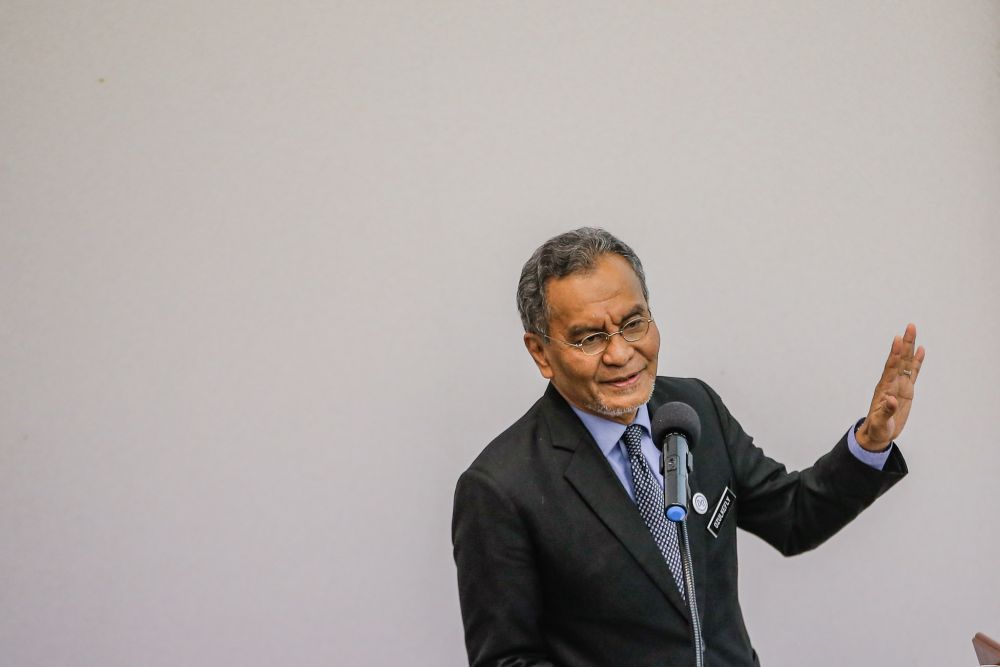 Health Minister Datuk Seri Dzulkefly Ahmad delivers his opening speech during the National Palliative Care Symposium at the Selayang Hospital November 6, 2019. — Picture by Hari Anggara