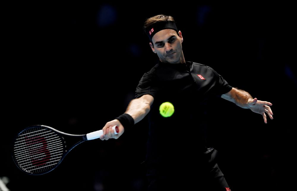 Crowd favourite Federer is rapidly becoming the oldest swinger in town but even at 38, he still has the tools to add to his all-time record of 20 Grand Slam titles. — Reuters pic