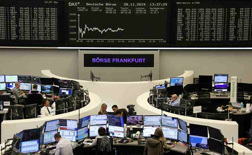 The German share price index DAX graph is pictured at the stock exchange in Frankfurt, Germany November 28, 2019. — Reuters pic
