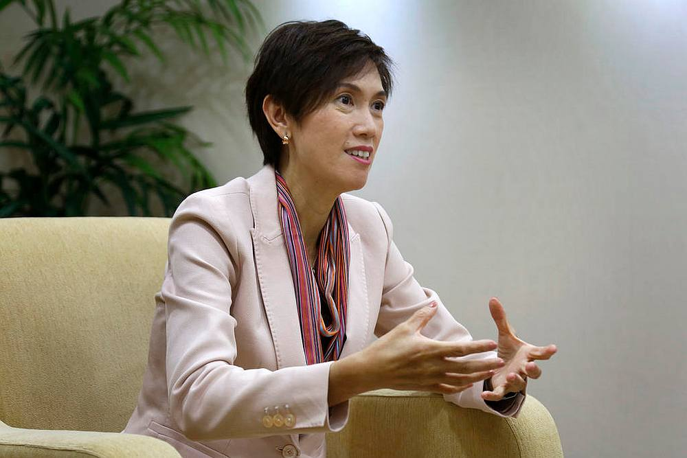 Singapore Manpower Minister Josephine Teo (pic) says the current slowdown is very different from previous economic crises as there is not much impact on the job market. — TODAY pic
