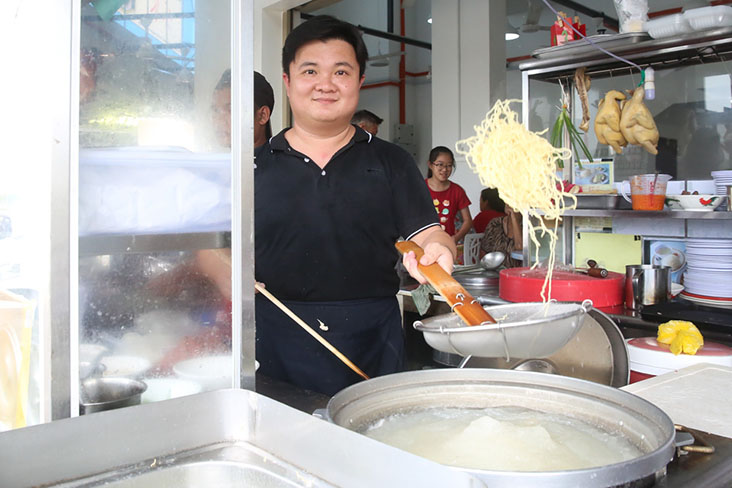 Chong originally served 'wantan mee' which he learned how to make from a family friend
