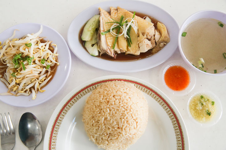 You can have crunchy Ipoh bean sprouts with your poached chicken and fragrant rice
