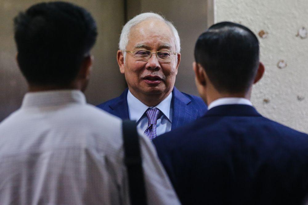 Datuk Seri Najib Razak is pictured at the Kuala Lumpur High Court November 28, 2019. — Picture by Firdaus Latif