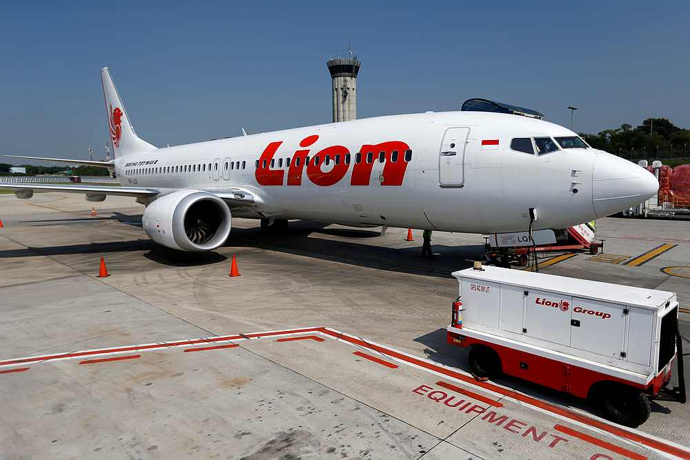 A Lion Air Boeing 737 MAX 8 jet on the tarmac of Soekarno Hatta International airport near Jakarta, Indonesia March 15, 2019. — Reuters pic