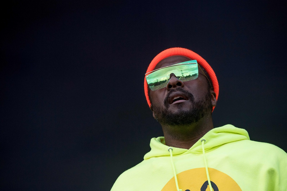 US rap singer will.i.am performs with the Black Eyed Peas group during the Vieilles Charrues music festival in Carhaix-Plouguer, western France July 20, 2019. — AFP pic