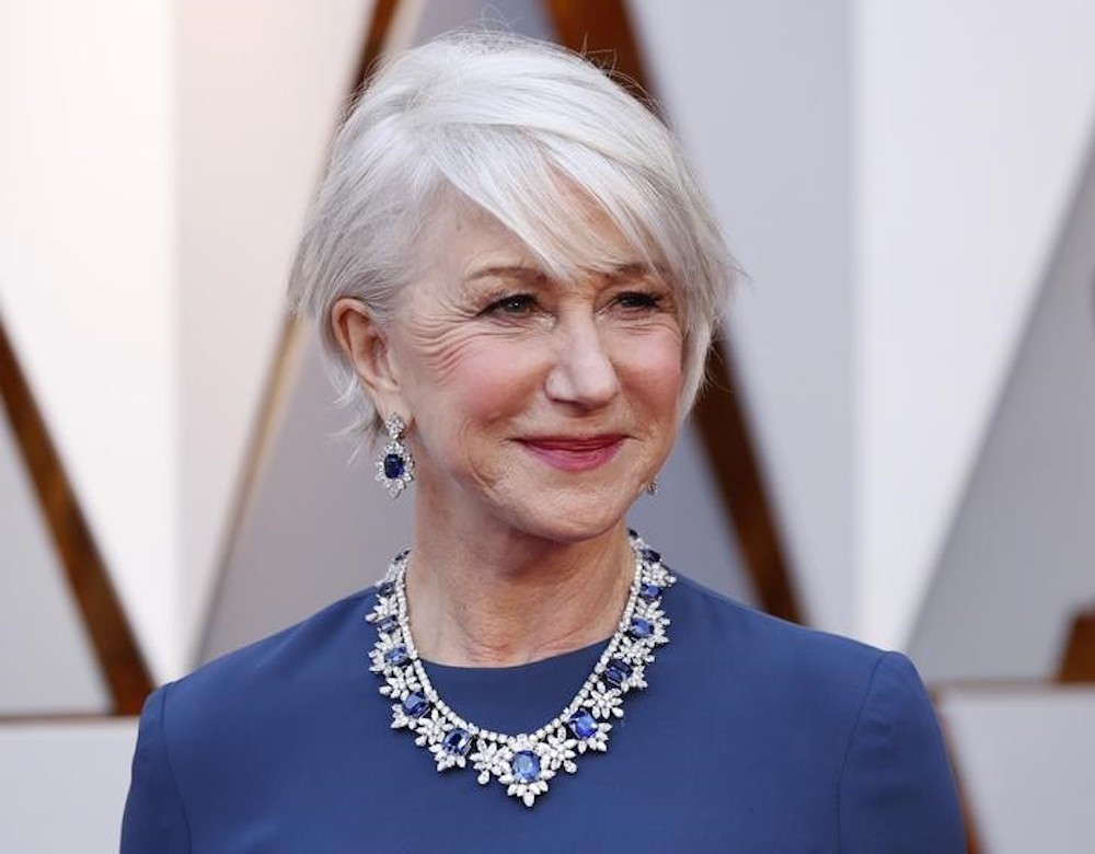 Helen Mirren arrives for the 90th Academy Awards in Los Angeles March 4, 2018. — Reuters pic