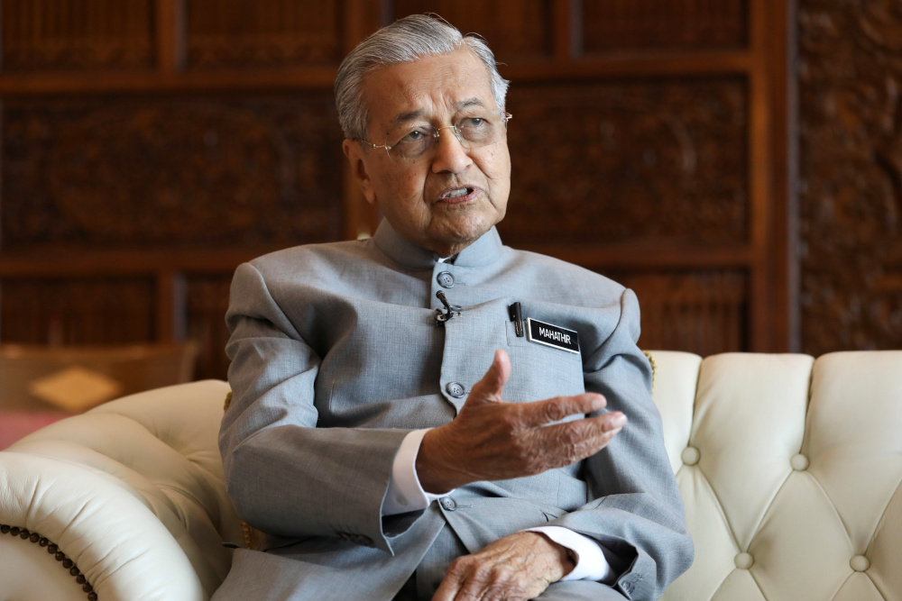 Sarawak Chief Minister's Office said Dr Mahathir invited both Sarawak and Sabah to explore the idea of owning stakes in Petronas, taking into consideration that the national oil company is a global oil company. — Reuters pic