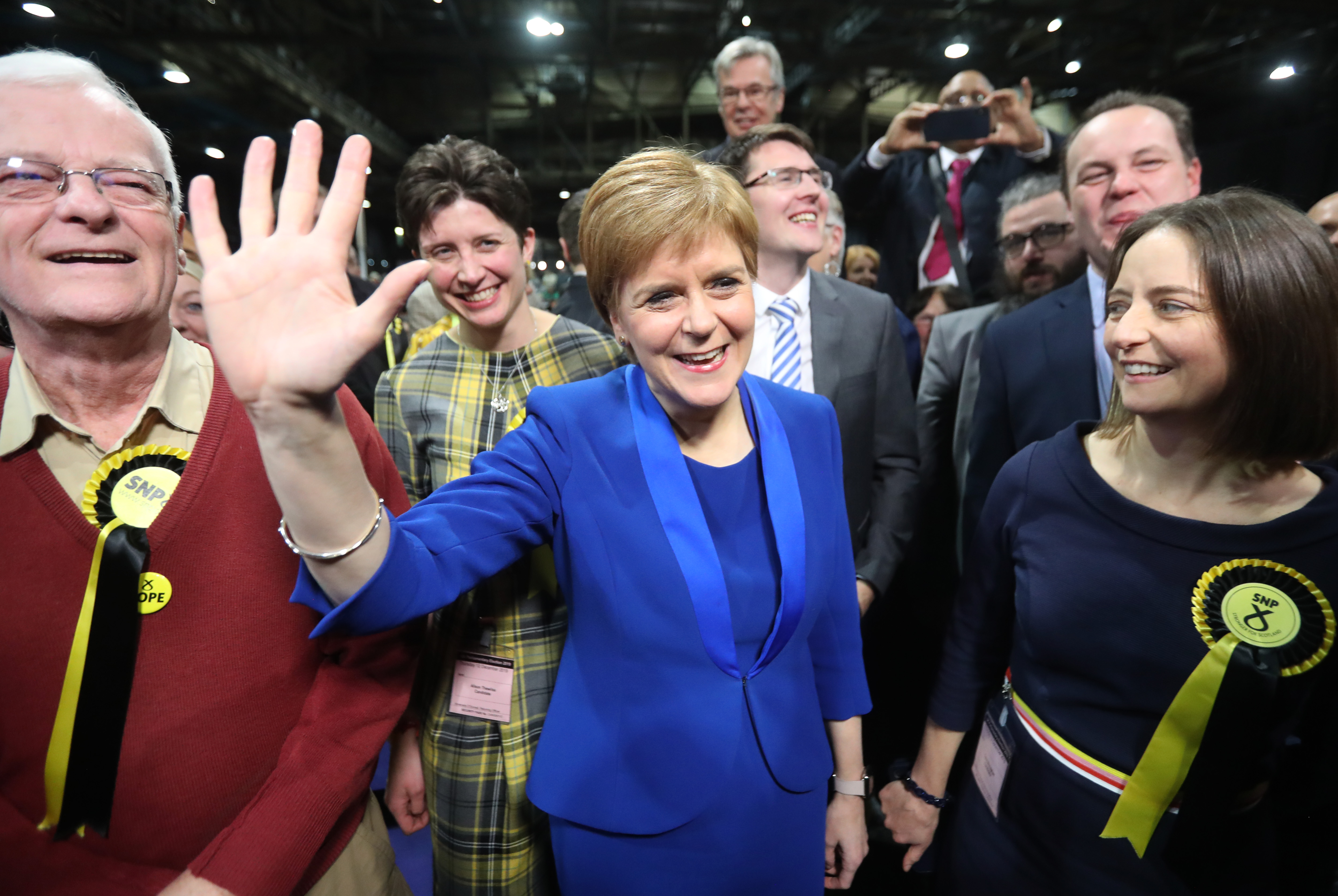 Nicola Sturgeon said that the UK 'cannot hold Scotland in the union'. — Reuters pic