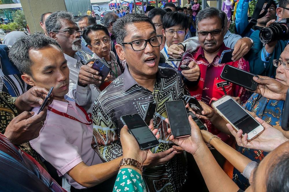 Perak Mentri Besar Datuk Seri Ahmad Faizal Azumu speaks to the press at the launch of SkilssMalaysia 2.0:Skills4all at the Perak Industrial Training Institute in Ipoh December 3, 2019. — Picture by Farhan Najib