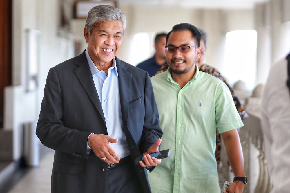 Datuk Seri Ahmad Zahid Hamidi is pictured at the Kuala Lumpur High Court December 2, 2019. — Picture by Ahmad Zamzahuri