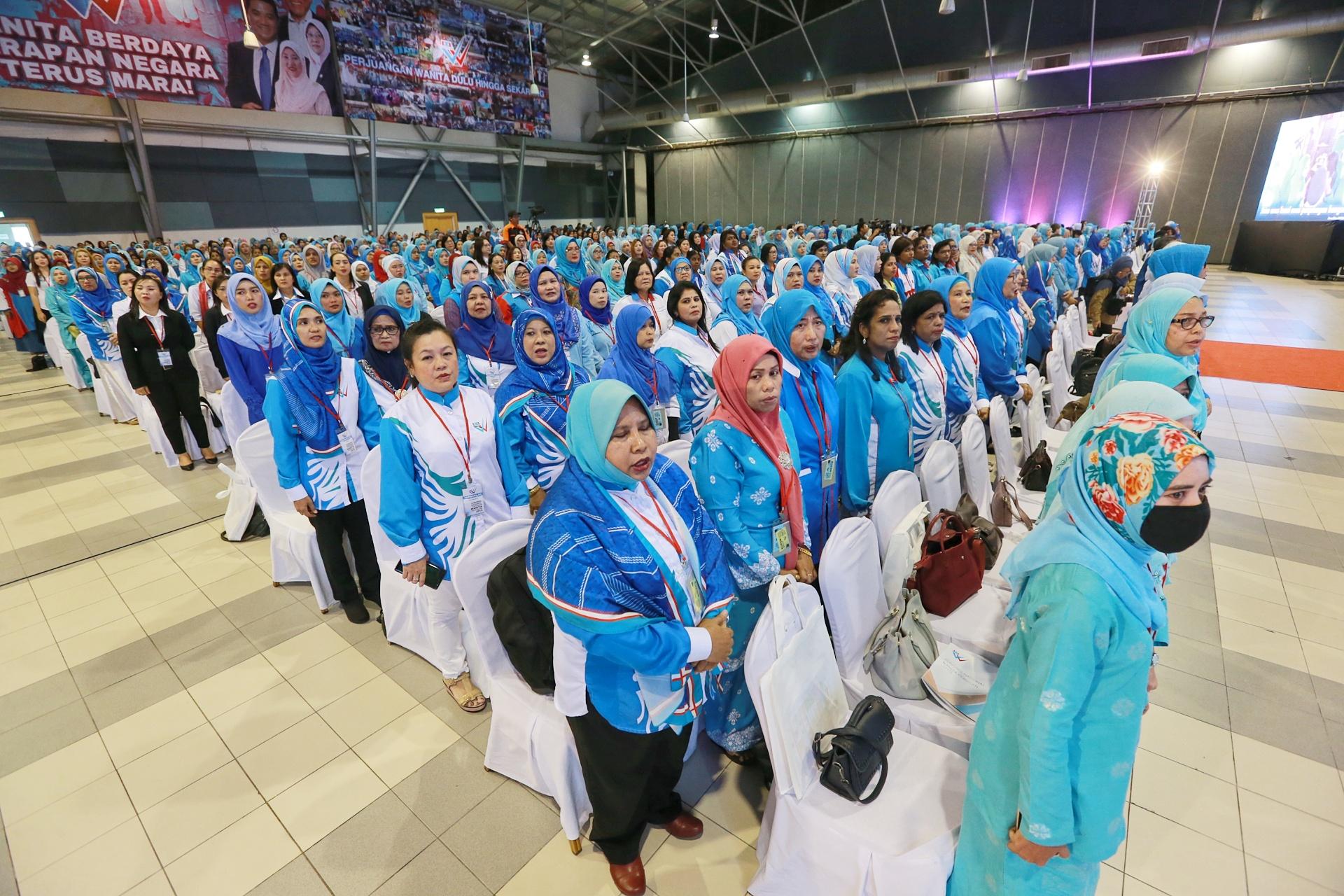 Delegates attend PKR Women's National Congress in Melaka December 6, 2019. — Picture by Ahmad Zamzahuri