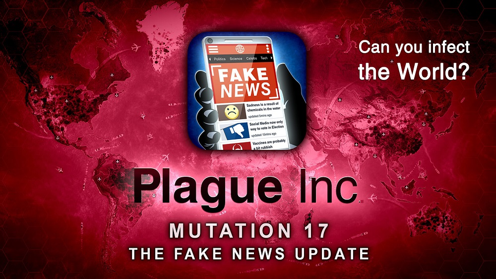 The 'Plague Inc' Fake News update has players discover how to spread false stories. — Picture courtesy of Ndemic Creations