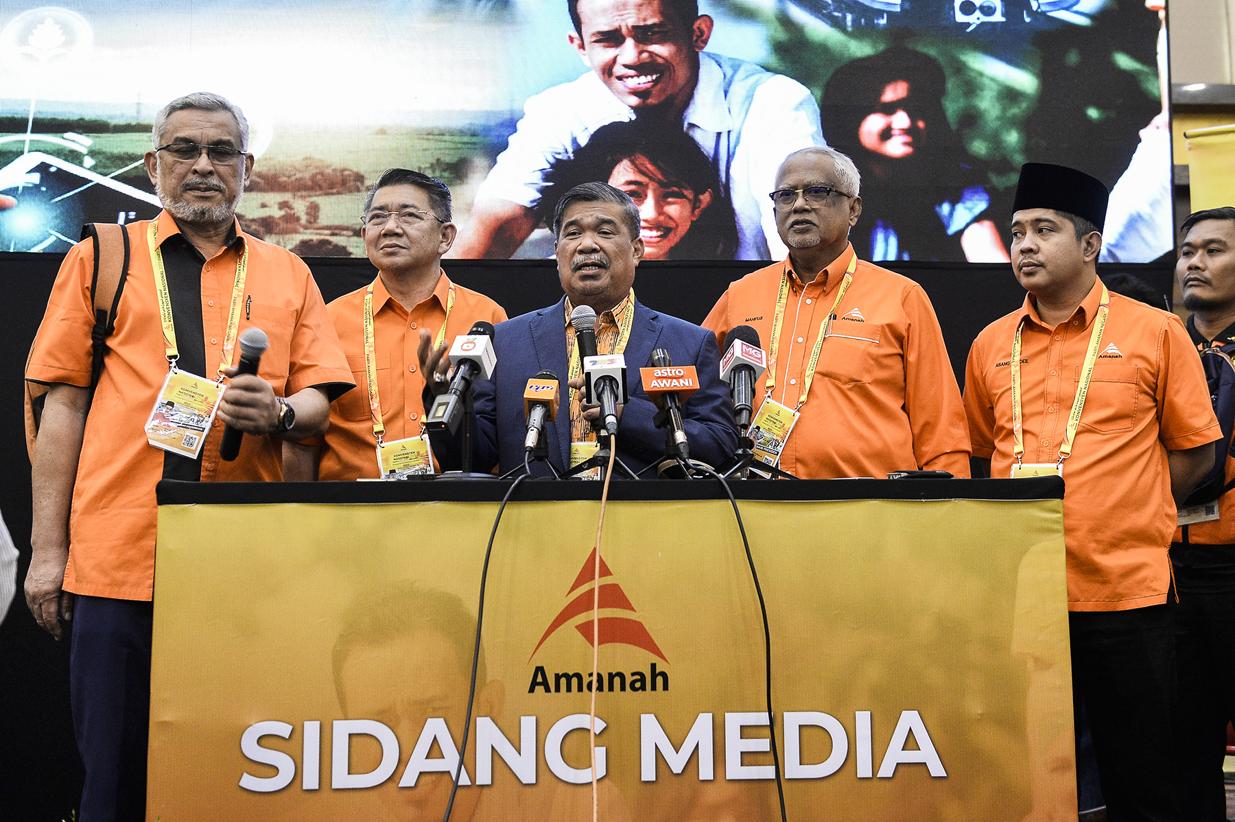 Amanah president Mohamad Sabu speaks during the Amanah National Convention 2019 in Shah Alam December 7, 2019. — Picture by Miera Zulyana