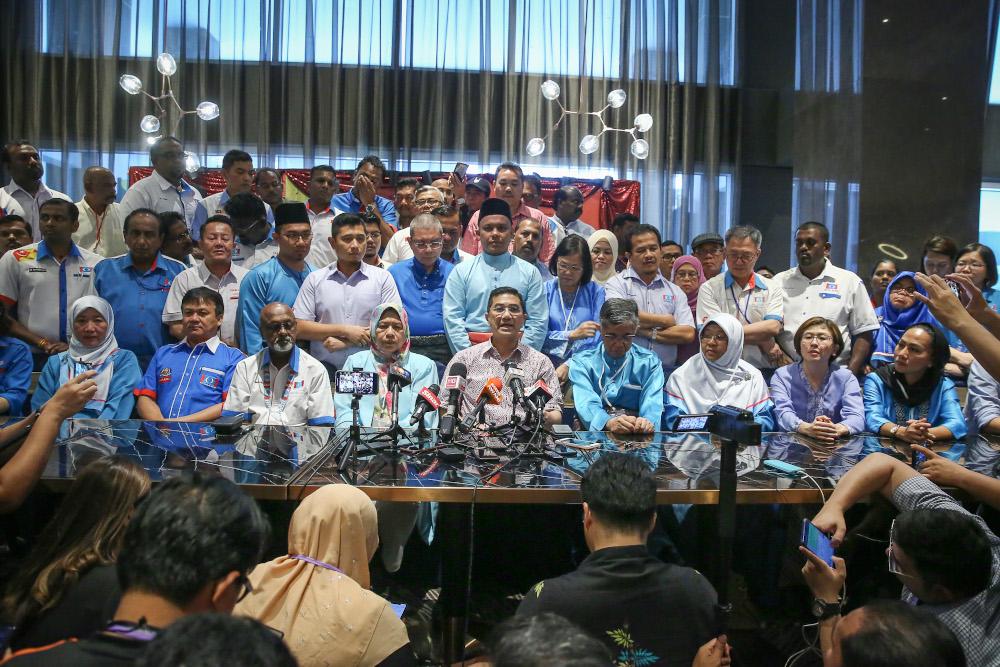 PKR deputy president Datuk Seri Mohamed Azmin Ali speaks during a news conference at AMES Hotel in Melaka December 7, 2019. — Picture by Yusof Mat Isa