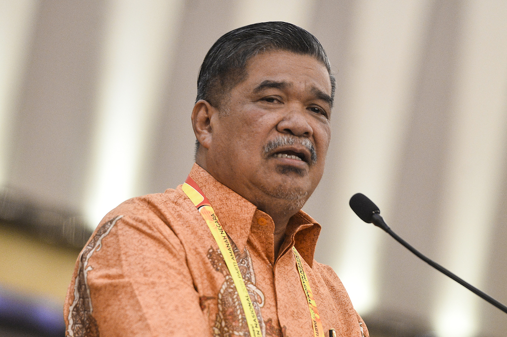 Mohamad Sabu speaks during the Amanah National Convention in Shah Alam December 8, 2019. — Picture by Miera Zulyana