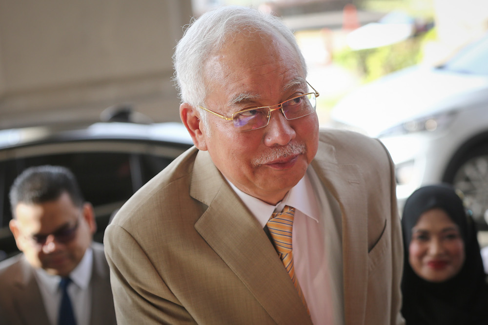 Former prime minister Datuk Seri Najib Razak arrives at the Kuala Lumpur High Court December 11, 2019. — Picture by Yusof Mat Isa