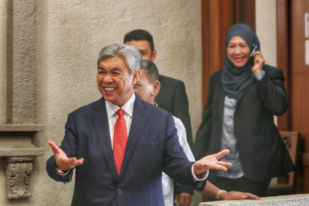 Datuk Seri Ahmad Zahid Hamidi is pictured at the Kuala Lumpur High Court December 12, 2019. — Pictures by Ahmad Zamzahuri