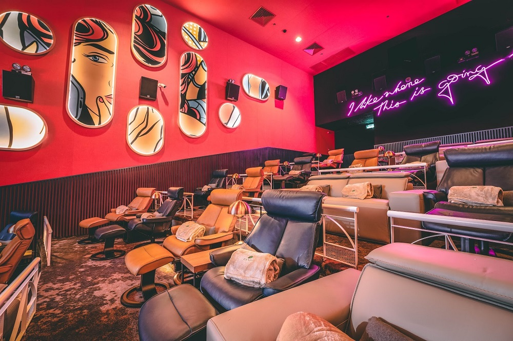 With comfy recliners as far as the eye can see, GSC's new Aurum Theatre will set the standard for a luxurious cinematic experience. — Picture courtesy of Golden Screen Cinemas