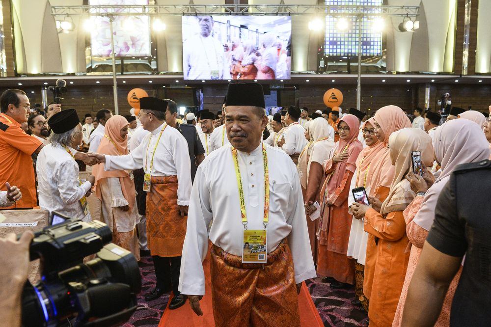 Amanah president Mohamad Sabu attends the 2019 Parti Amanah Negara National Convention in Shah Alam on December 6, 2019. ― Picture by Miera Zulyana