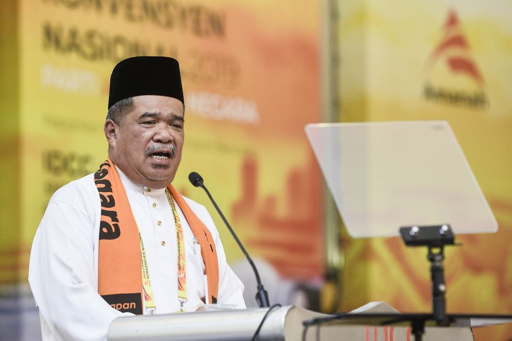 Amanah president Mohamad Sabu speaks during the 2019 Parti Amanah Negara National Convention in Shah Alam on December 6, 2019. ― Picture by Miera Zulyana