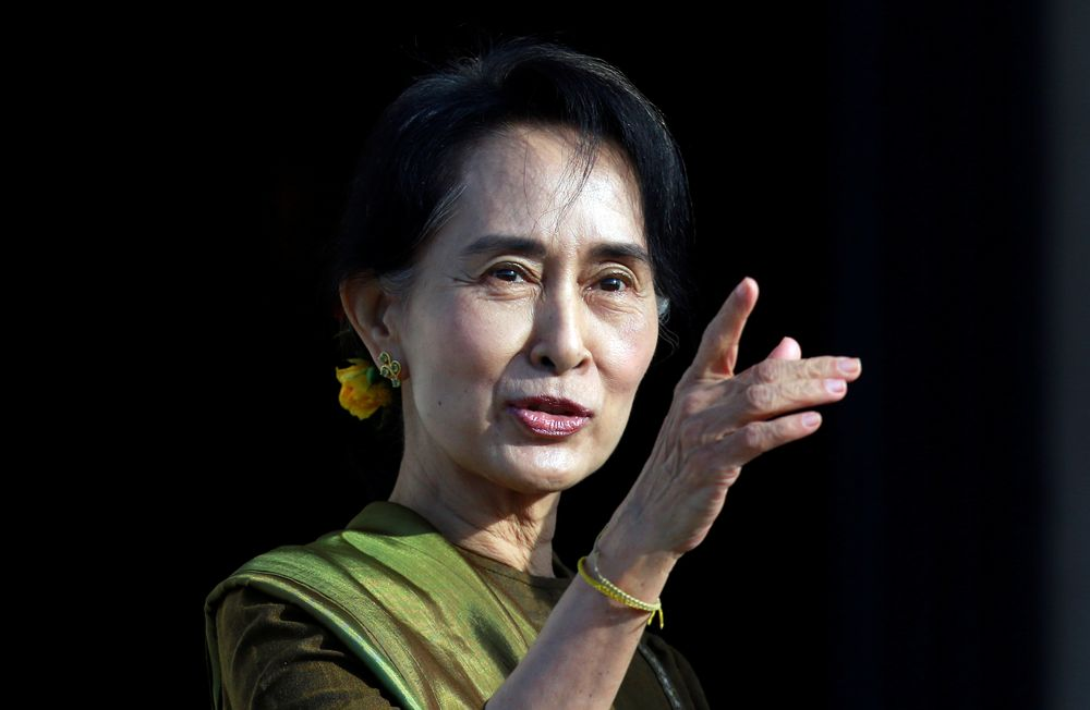 Myanmar pro-democracy leader Aung San Suu Kyi will defend her country's record on the Rohingya. — Reuters pic