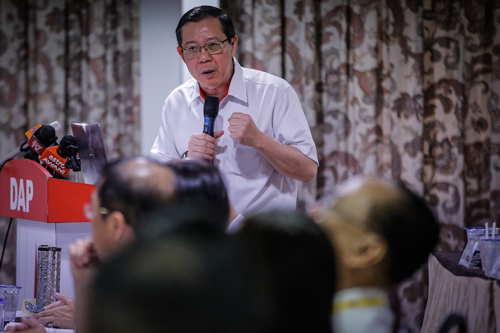 DAP secretary-general Lim Guan Eng said DAP members should focus on fulfilling the Pakatan Harapan manifesto to develop the country instead of being distracted by the issue of power transition for the post of prime minister. — Picture by Hari Anggara
