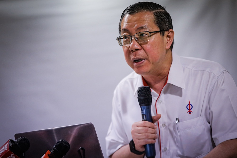 Lim warned against the 'dangerous, divisive and destructive' campaign driven by the Opposition Umno and PAS against non-Malays and non-Muslims in their bid to take power. — Picture by Hari Anggara