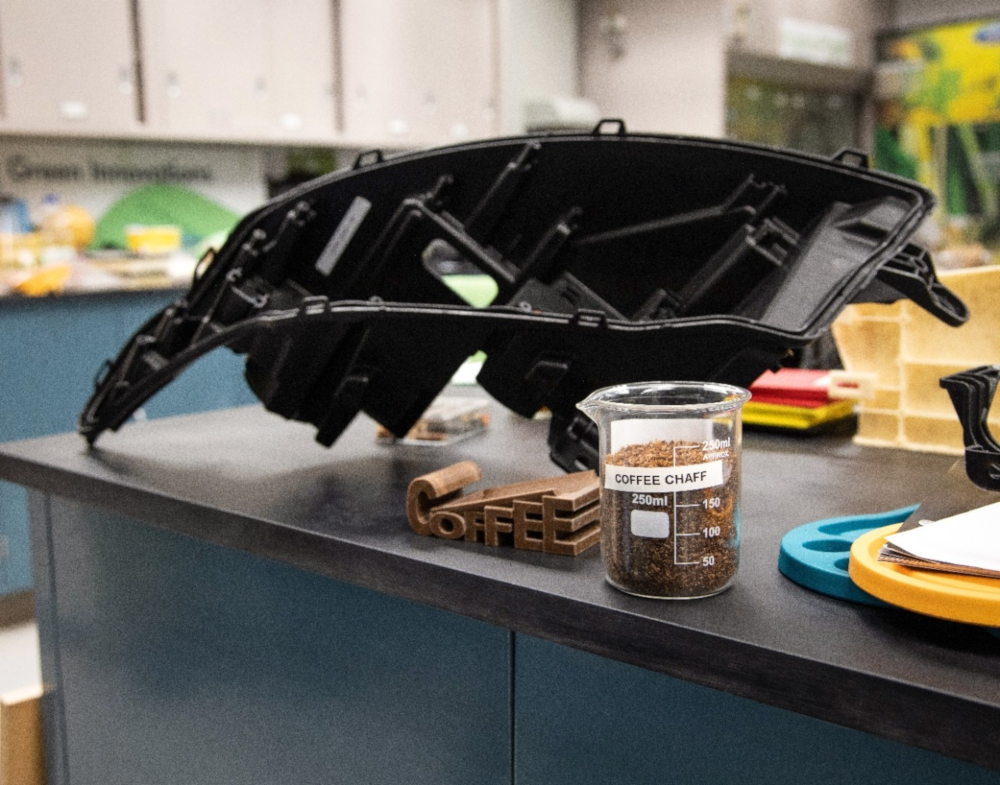Ford and McDonald's are collaborating to create car components out of coffee bean skins. — Picture courtesy of Ford via AFP-Relaxnews