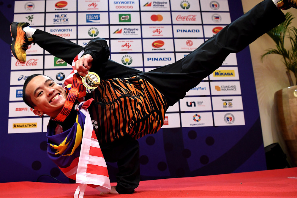 Lego Sam Jee Lek amassed 12 points from his routine at the Royce Hotel. — Bernama pic