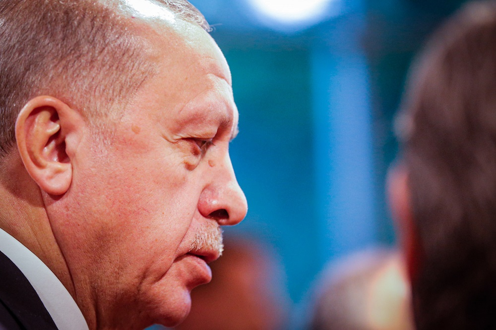 Turkish President Recep Tayyip Erdogan has accused Kavala of being an agent of George Soros. — Picture by Hari Anggara