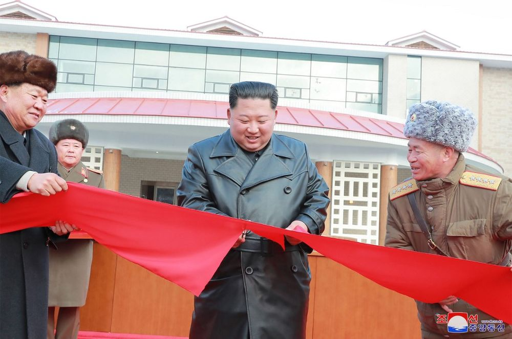 This picture released from North Korea's official Korean Central News Agency (KCNA) on December 8, 2019 shows North Korean leader Kim Jong-un attending a ceremony for the completion of the Yangdok County Hot Spring Cultural Recreation Center in South Pyongan Province, North Korea on December 7, 2019. — KCNA / KCNA via KNS / AFP pic