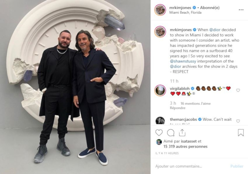 Kim Jones confirms his future collaboration with Shawn Stussy for Dior Homme. — Picture from Instagram/Kim Jones via AFP-Relaxnews