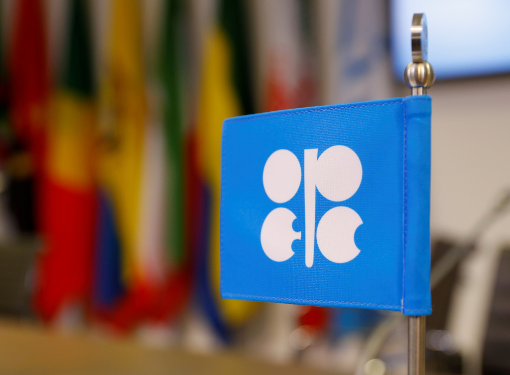The logo of the Organisation of the Petroleum Exporting Countries (Opec) is seen inside its headquarters in Vienna, Austria, December 7, 2018. — Reuters pic