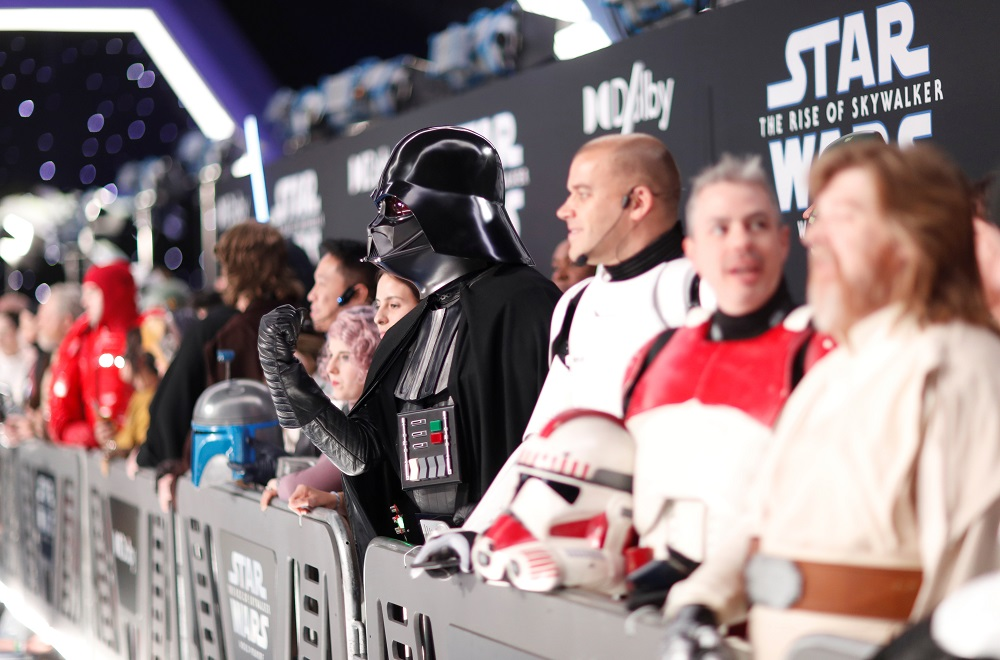 Fans await the start of the premiere for 'Star Wars: The Rise of Skywalker' in Los Angeles, California December 16, 2019. — Reuters pic