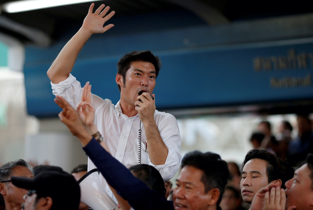 Police said Thanathorn Juangroongruangkit  had committed lese majeste in a Facebook Live stream. — Reuters pic