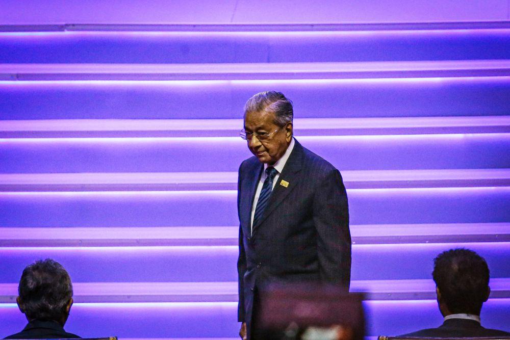 马哈迪出席吉隆坡高峰会议。-Hari Anggara摄-