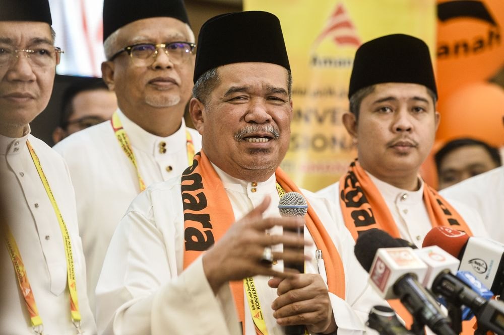 Mohamad Sabu addresses reporters during a media conference at the 2019 Parti Amanah Negara National Convention in Shah Alam on December 6, 2019. ― Picture by Miera Zulyana