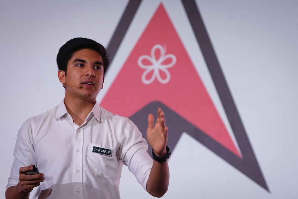 Syed Saddiq Syed Abdul Rahman speaks during an Armada fundraiser at the Setia City Convention Centre in Shah Alam December 2, 2019.  — Picture by Yusof Mat Isa
