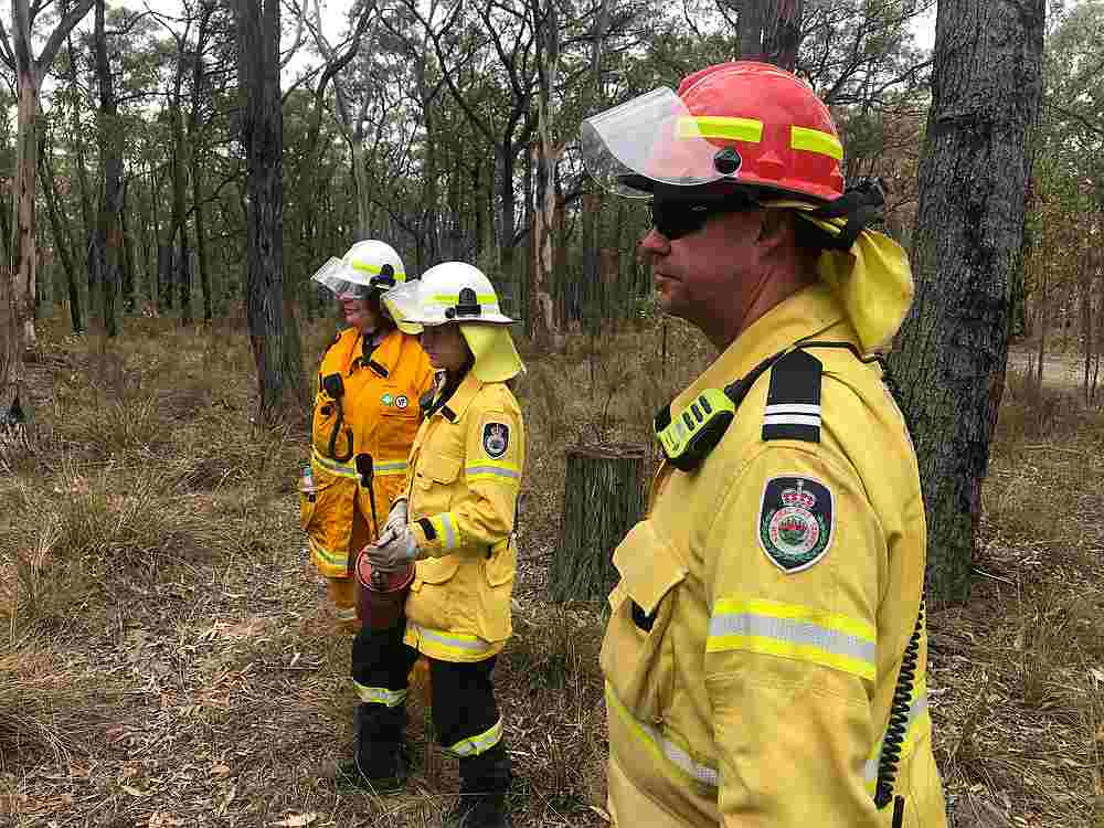 New South Wales Rural Fire Service observers during back burning operations near Picton, Australia December 22, 2019. — Reuters pic